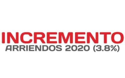 Incremento autorizados para Arrendamientos en el 2020